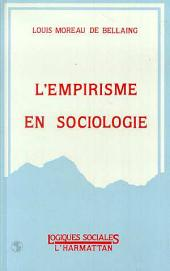 L'empirisme en sociologie