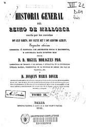 Historia general del Reino de Mallorca: Volumen 2