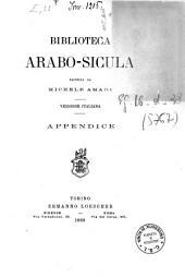 Biblioteca arabo-sicula [versione italiana]: ossia raccolta di testi arabici che toccano la geografia, la storia, la biografia e la bibliografia della Sicilia