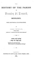 The History of the Parish of Bromley St  Leonard  Middlesex PDF
