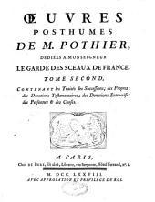 Traités sur différentes matières de droit civil appliquées à l'usage du barreau et de jurisprudence française: oeuvres posthumes : coutumes d'Orléans, Volume6