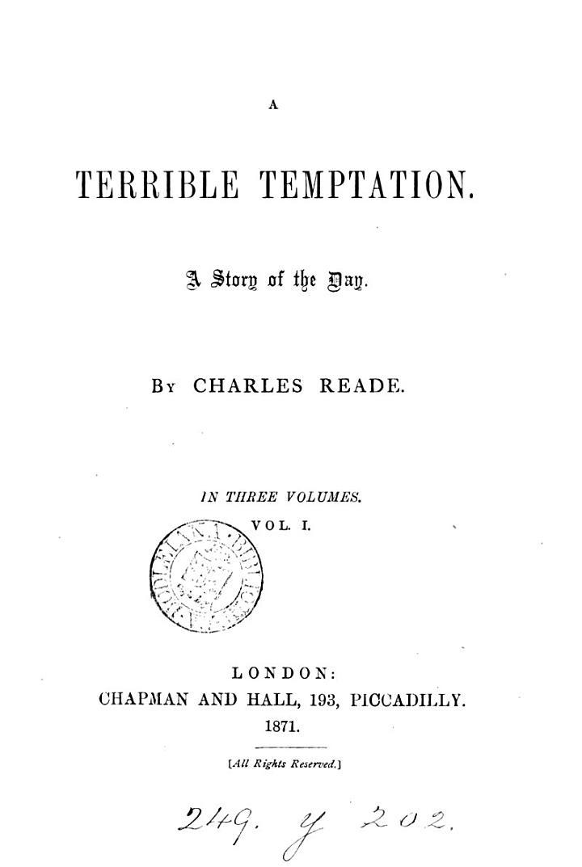 A Terrible Temptation
