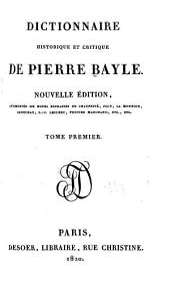Dictionnaire historique et critique de Pierre Bayle: Volume1