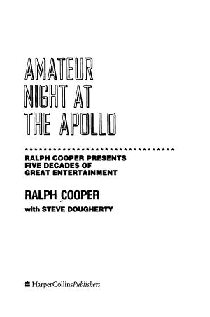 Amateur Night at the Apollo PDF