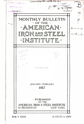 Monthly Bulletin of the American Iron and Steel Institute: Volume 5