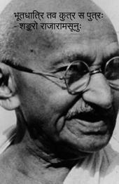 भूतधात्रि तव कुत्र स पुत्रः Poem on MK Gandhi