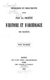 Mémoires et documents: Volume 12