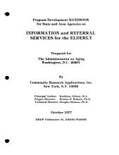 Information and Referral Services for the Elderly PDF