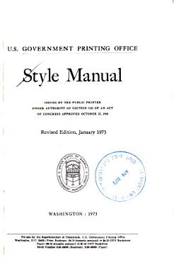 Style Manual     Revised Edition  January 1973 PDF