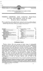 Timber growing and logging practice in the Southwest and in the Black Hills region
