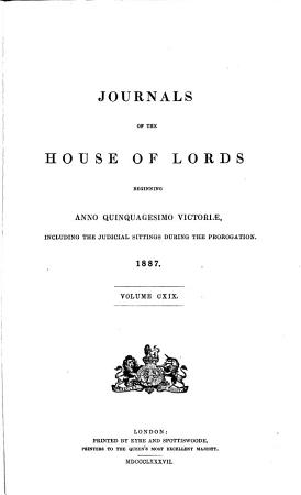 Journals of the House of Lords PDF