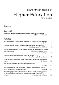 South African Journal of Higher Education PDF