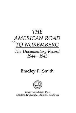 The American Road to Nuremberg PDF