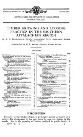 Timber growing and logging practice in the Southern Appalachian region