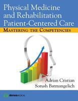 Physical Medicine and Rehabilitation Patient Centered Care PDF