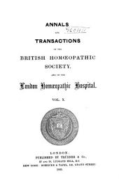 The Journal of the British Homoeopathic Society: Volume 10