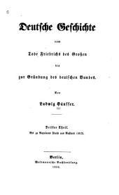 Deutsche geschichte vom tode Friedrichs des Grossen bis zur gründung des Deutschen Bundes: Band 3
