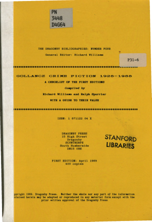 Gollancz Crime Fiction 1928 1988
