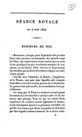 Séance royale du 4 juin 1814