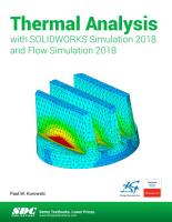 Thermal Analysis with SOLIDWORKS Simulation 2018 and Flow Simulation 2018 PDF