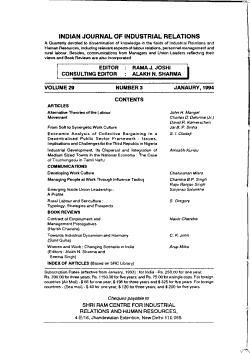 The Indian Journal of Labour Economics PDF