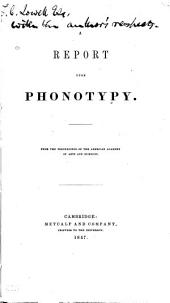 A Report Upon Phonotypy