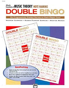 Essentials of Music Theory  Note Naming Double Bingo Book
