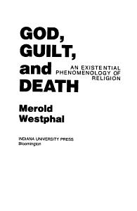 God  Guilt  and Death Book