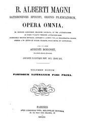 B. Alberti Magni Opera omnia: Volume 9