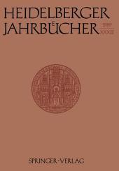 Heidelberger Jahrbücher: Band 33