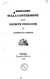 Osservazioni sulla conversione delle rendite pubbliche di Giuseppe Ceva Grimaldi