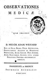 Observationes medicae
