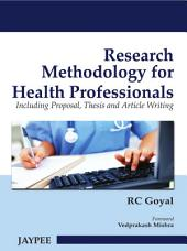 Research Methodology for Health Professionals