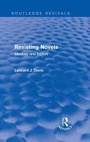 Resisting Novels  Routledge Revivals  PDF