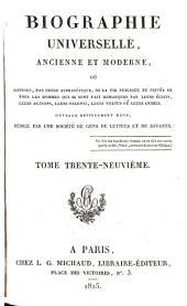 Biographie universelle, ancienne et moderne: Volume39
