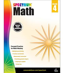 Spectrum Math Workbook  Grade 4 PDF