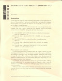 Student Leadership Practices Inventory  Self Instrument  4 Page Insert  NCR Paper