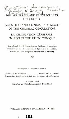 Der Hirakreislauf in Forschung und Klinik PDF