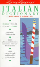 Living Language Italian Book