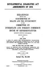 Developmental disabilities act amendments of 1978
