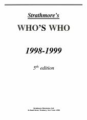 Strathmore s Who s Who  1998 1999 PDF