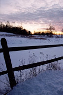 2020 Weekly Planner Winter Theme Daybreak Sunrise Fence 134 Pages