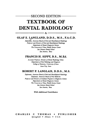 Textbook of Dental Radiology PDF