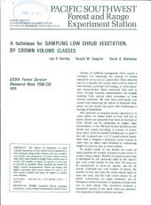 A technique for sampling low shrub vegetation, by crown volume classes