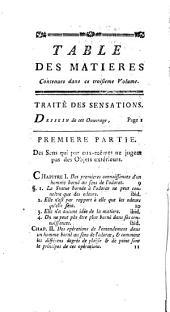 Traité des sensations: à Madame la comtesse de Vassé ; suivi du Traité des animaux