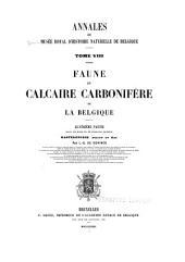 Annales du Musée royal d'histoire naturelle de Belgique: Volume8