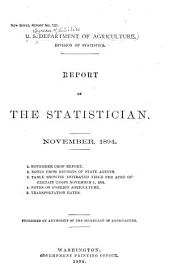 Report of the Statistician: Issues 121-130