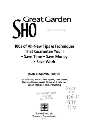 Great Garden Shortcuts PDF