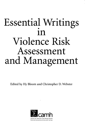 Essential Writings in Violence Risk Assessment and Management PDF