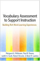 Vocabulary Assessment to Support Instruction PDF